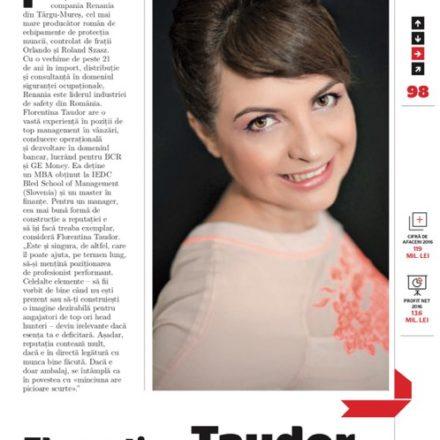 Florentina Taudor parte din elita celor mai admirati CEO