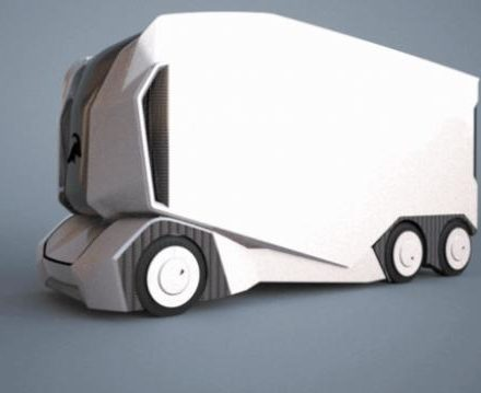 Swedish tech company Einride unveils the T-pod, a remote controlled self-driving electric truck