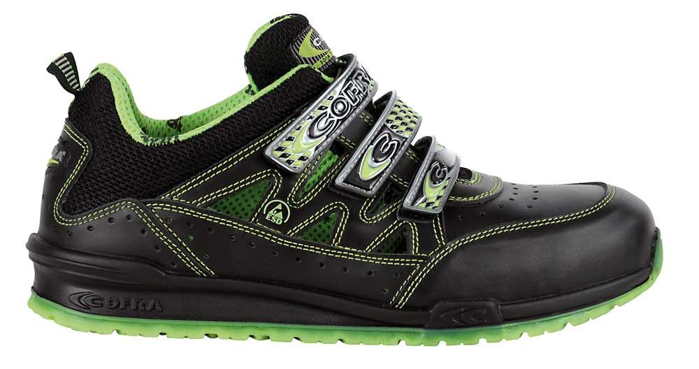 Cofra — Pantof de protectie cu bombeu aluminiu si lamela Davenport-Lime