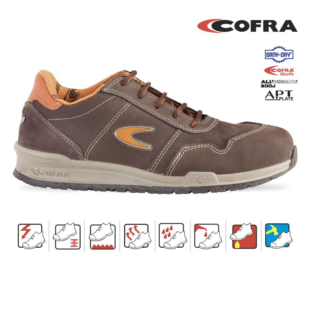 Cofra — Pantoful de protectie cu bombeu de aluminiu si lamela