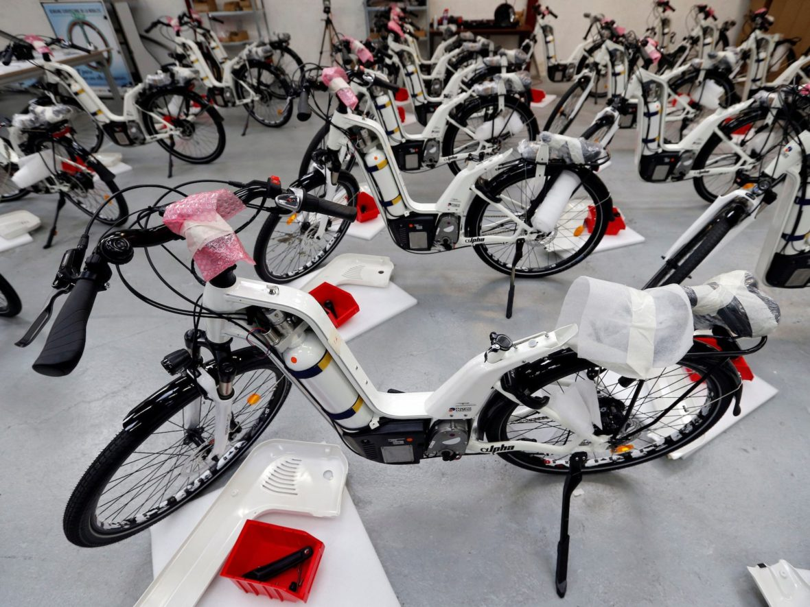 A French startup is launching hydrogen-powered bicycles that sell for over $9,000 each